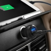 Picture of RAVPOWER 2 Port 40W 1xQC3.0|1xUSB Car Charger Black