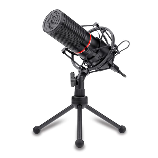 Picture of Redragon Cardioid USB Gaming Mic and Tripod - Black