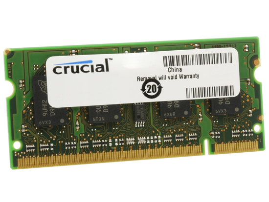 Picture of Crucial 4GB DDR3L 1600MHz SO-DIMM Single Rank