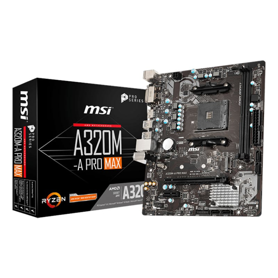 Picture of MSI A320M PRO-A MAX AMD AM4 m-ATX Gaming Motherboard