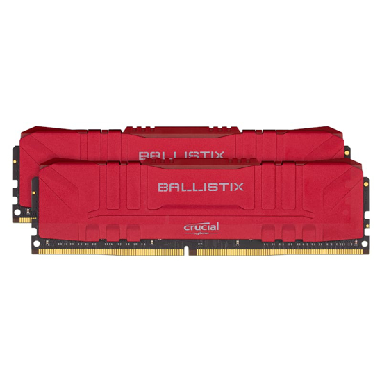 Picture of Ballistix 16GBKit (2x8GB) DDR4 3200MHz Desktop Gaming Memory - Red