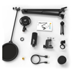 Picture of Fifine T669 Cardioid USB Condensor Microphone Arm Desk Mount Kit - Black