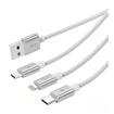 Picture of Orico 3in1 USB2 To 1xUSB-C|1XMicro|1xLightning Cable - Silve