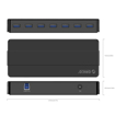 Picture of Orico 7 Port Additional Power USB3.0 Hub - Black