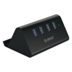 Picture of Orico 4 Port USB3.0 Tablet Stand Hub - Black