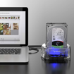 Picture of Orico 2 Bay 2.5 / 3.5 USB3.0 HDD|SSD Dock - Transparen