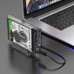 Picture of Orico 2.5 USB-C External Hard Drive Enclosure Transparent