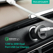 Picture of RAVPOWER 2 Port 17W 2xUSB Car Charger - Black