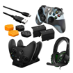 Picture of Sparkfox Premium Player Pack 2xBattery Pack|1xCharge Cable|1xCharging Station|1xHeadset|1xPremium Thumb Grip Pack