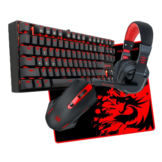 Picture of Redragon 4in1 MECHANICAL (K552|M601|H101|ARCHELON-M) Gaming Combo 1 - Black