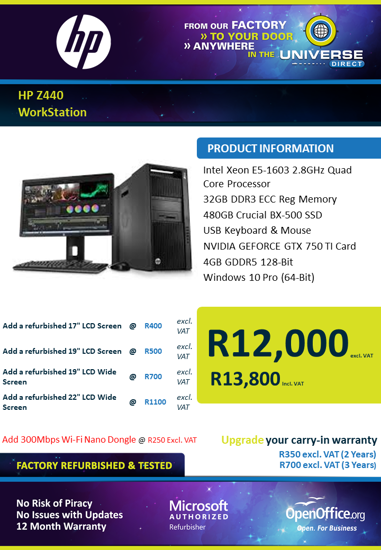 Picture of HP Z440 WorkStation