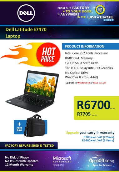 Picture of Dell Latitude E7470 Laptop
