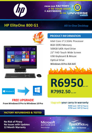 Picture of Fire Sale - HP EliteOne 800 G1 i7 All-in-One Desktop