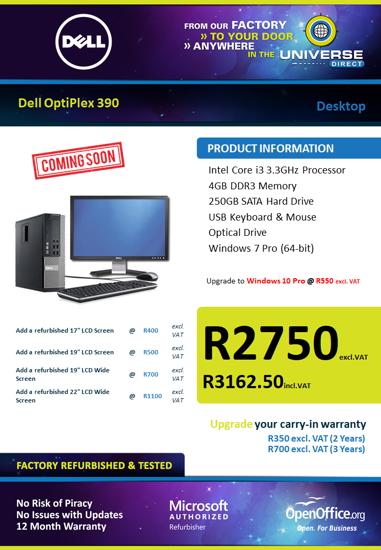 Picture of COMING SOON-Dell OptiPlex 390 i3 Desktop
