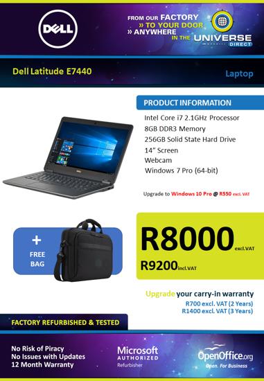 Picture of Dell Latitude E7440 i7 256GB SSD Laptop