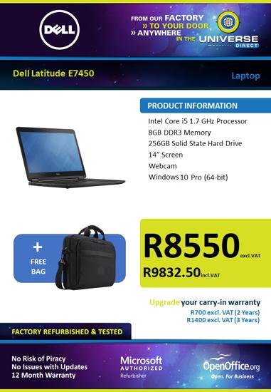Picture of Dell Latitude E7450 i5 W10P Laptop