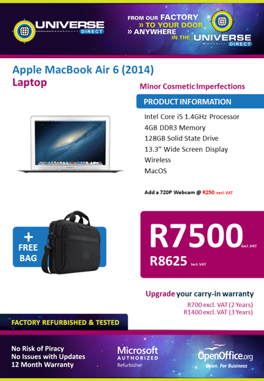 Picture of BEST DEAL-Apple MacBook Air 6 (2014)