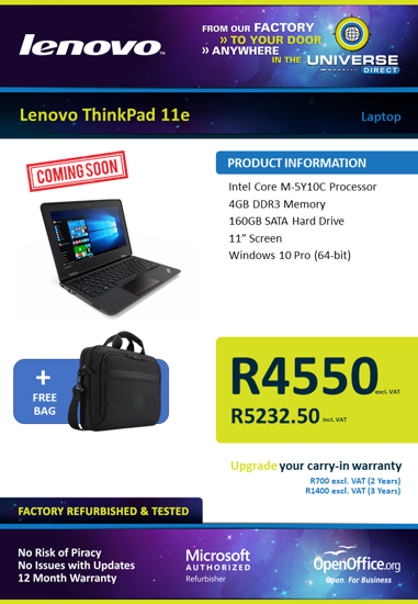 Picture of COMING SOON-Lenovo ThinkPad 11E Laptop