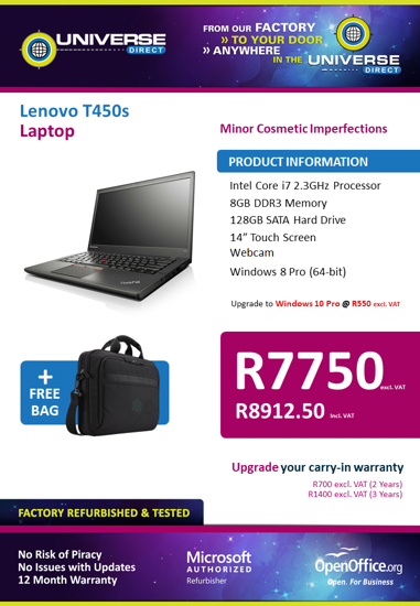 Picture of BEST DEAL-Lenovo ThinkPad T450s i7 Touch Screen