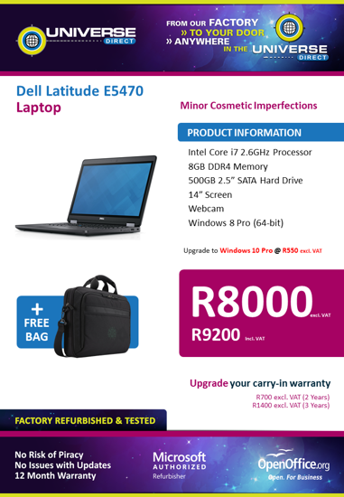 Picture of BEST DEAL-Dell Latitude E5470 i7 500GB Laptop