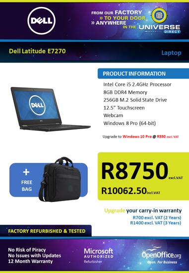 Picture of Dell Latitude E7270 i5 Laptop Touchscreen
