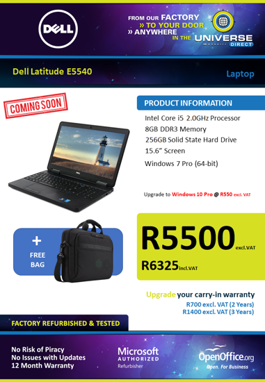 Picture of COMING SOON-Dell Latitude E5540 i5 Laptop