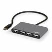 Picture of Port USB Type-C to 4 x USB2.0 480Mbs 4 Port Hub - Black
