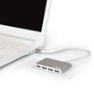 Picture of Port USB2.0 to 4 x USB2.0 480Mbps 4 Port Hub - Silver