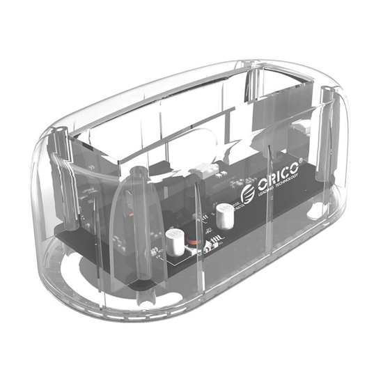 Picture of Orico USB3.0 2.5 / 3.5 HDD SSD Dock Transparent