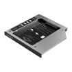 Picture of Orico 9.0mm/9.2mm/9.5mm SATA3.0 Optical Caddy Drive - Silver