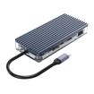 Picture of Orico 11 Port 3 x USB3.0|1 x USB2.0|1 x HDMI|1 x RJ45|1 x TF/SD|1 x Type-C|1 x VGA| 1 x Aux Transparent Hub - Grey