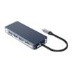 Picture of Orico 6 Port 3 x USB3.0|1 x HDMI|1 x RJ45|1 x Type-C Transparent Hub - Grey
