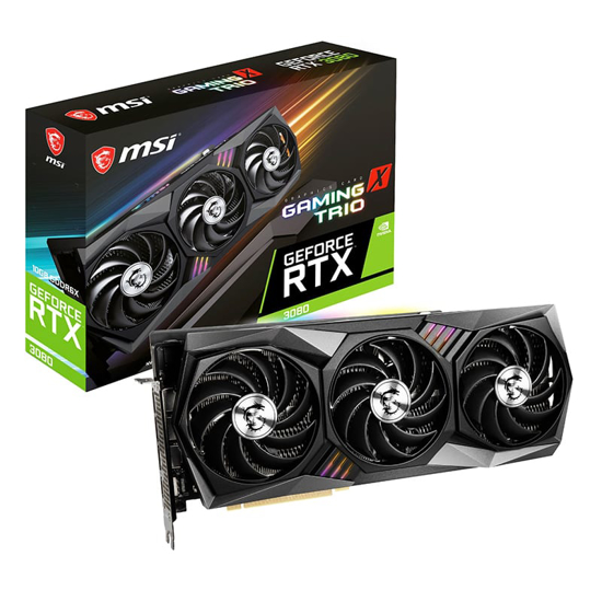 Picture of MSI Nvidia GeForce RTX 3080 GAMING X TRIO 10G GDDR6X 320-BIT Graphics Card