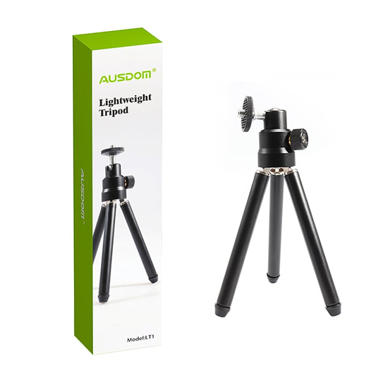 Picture of Ausdom LT1 Lightweight Mini Tripod|Adjustable Legs|360 Degree Rotation|90 Degree Tilt - Black