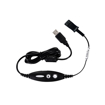 Picture of Calltel H550 Stereo-Ear Noise-Cancelling Headset + UC2000T Quick Disconnect USB Sound Card Adapter Cable
