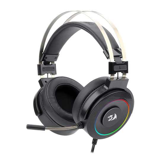 Picture of Redragon Lamia 2 USB|Virtual 7.1|3D Sound Effect|RGB Lighting|Stand Included Gaming Headset - Black