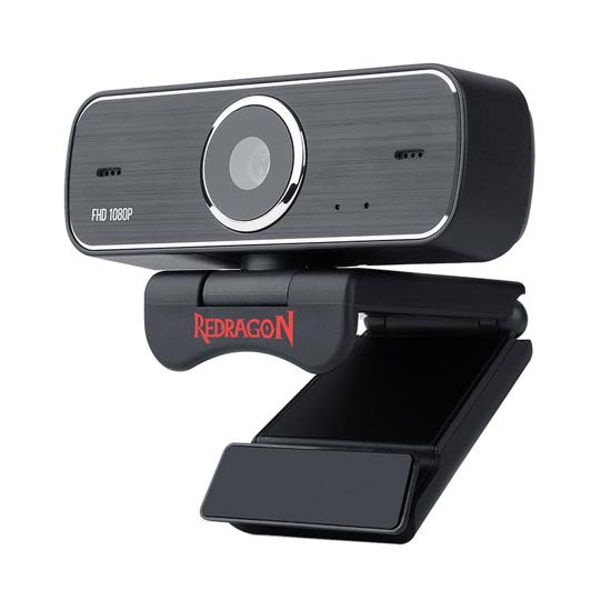 Picture of Redragon HITMAN 1080p|72 FOV|Mount Bracket|30 FPS PC Webcam - Black