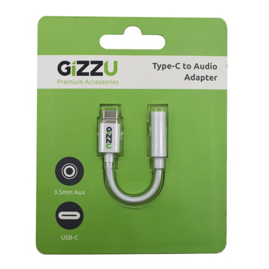Picture of Gizzu USB-C to Audio Adapter - White