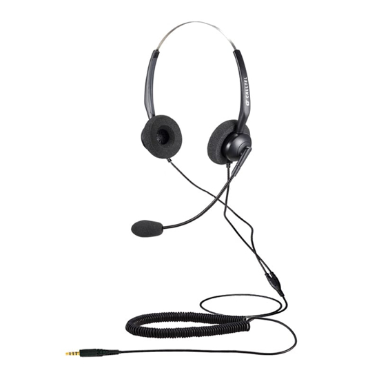 Picture of Calltel T800 Stereo-Ear Noise-Cancelling Headset - Single 3.5mm Jack