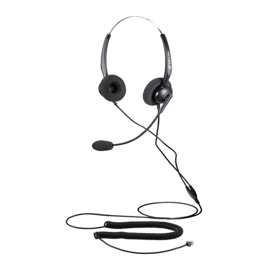 Picture of Calltel T800 Stereo-Ear Noise-Cancelling Headset - RJ9 Standard