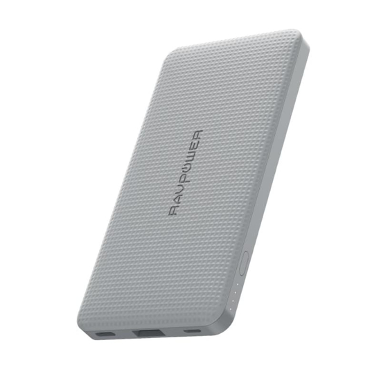Picture of RAVPOWER 10000mAh USB|Type-C PD18W/QC3.0 Power Bank - Grey