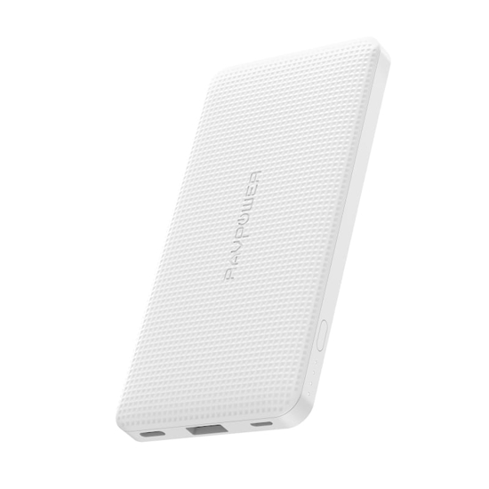 Picture of RAVPOWER 10000mAh USB|Type-C PD18W/QC3.0 Power Bank - White