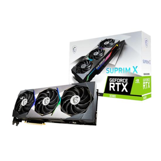 Picture of MSI Nvidia GeForce RTX 3080 SUPRIM X 10G 320-BIT Graphics Card
