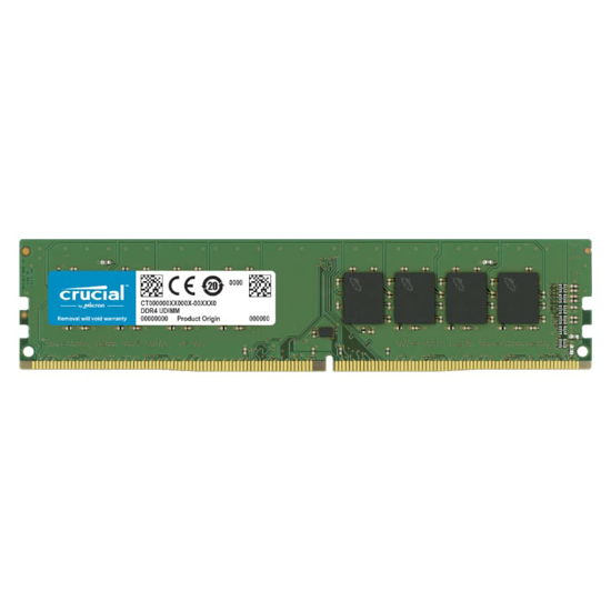 Picture of Crucial 4GB DDR4 2666MHz Desktop Single Rank Memory