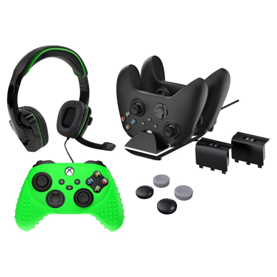 Picture of Sparkfox Xbox Series X Combo Gamer Pack with Headset|Grip Pack|Controller Skin|Charging Dock|2 x Batteries
