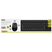 Picture of Port Wireless Keyboard and Mouse Combo with USB and Type-C Dongle - Black