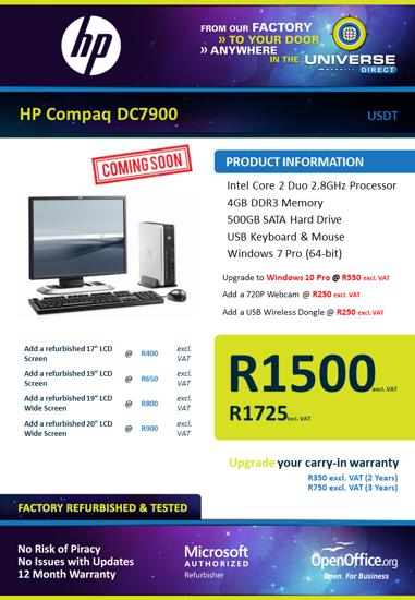 Picture of HP Compaq DC7900 C2D 4GB 160GB W7P USDT