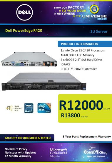 Picture of Dell PowerEdge R420 1U Server