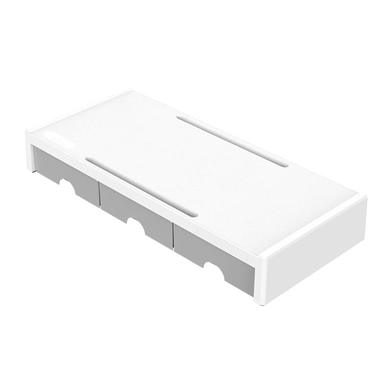 Picture of Orico Monitor Stand Riser White with Grey Draws