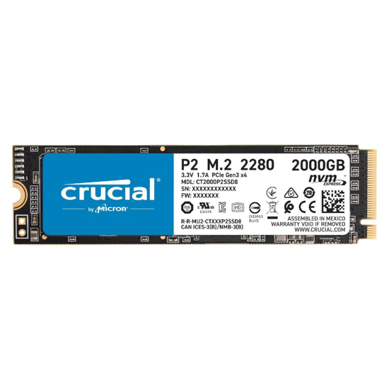 Picture of Crucial P2 2TB 3D PCIE NVME M.2 SSD